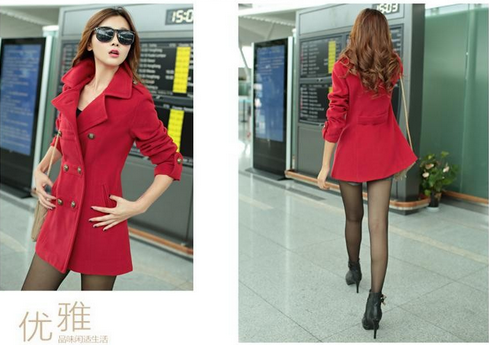 Women's Wool Coat - 2 Colors!