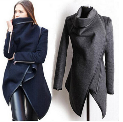 Women's Long Fashionable Overcoat - 5 Colors!