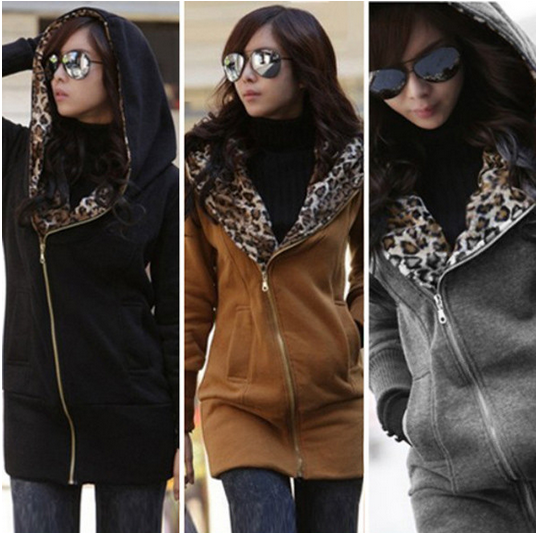Women's Leopard Hooded Jacket