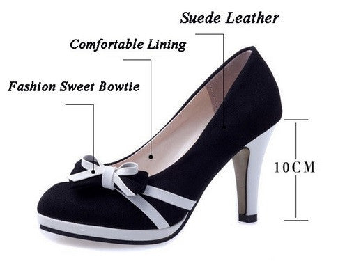 Women's Bowtie Pumps - 2 Colors!