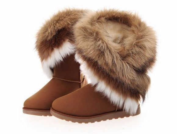 Women's Fur Boots - 3 Colors!