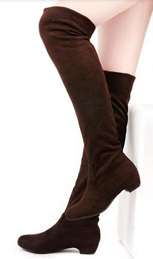 Women's Elegant Knee High Low Heel Boots