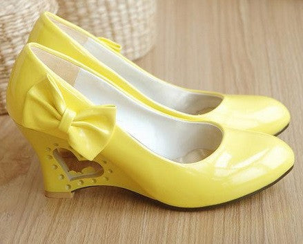 Women's Princess Bow Heart Shaped Shoes