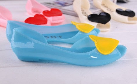 Women's Cute Open Toe Heart Shoes