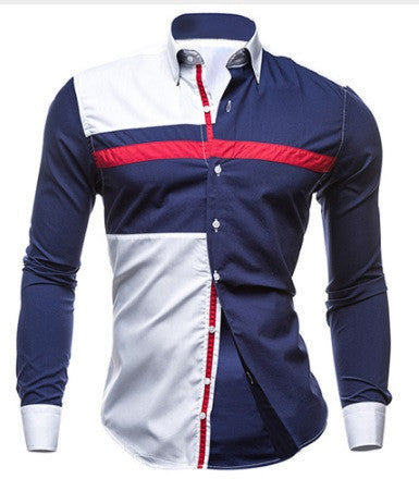 Men's Red, White & Blue Shirt - 2 Colors!