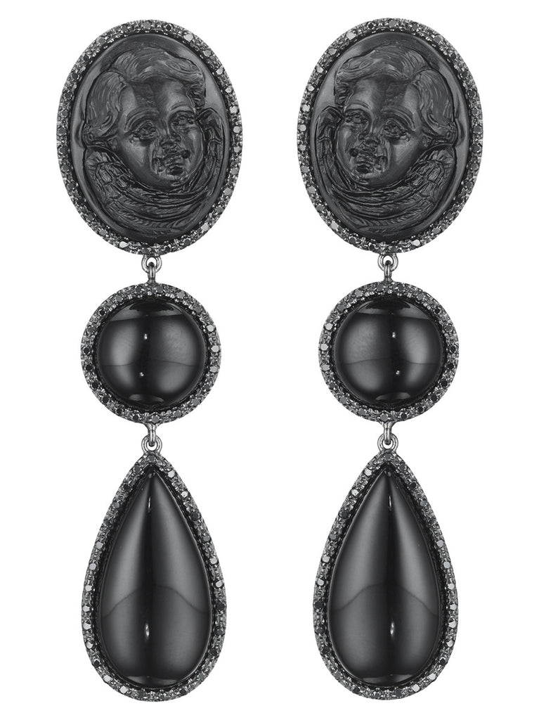 "Couture ""Nero Chic"" Earrings"