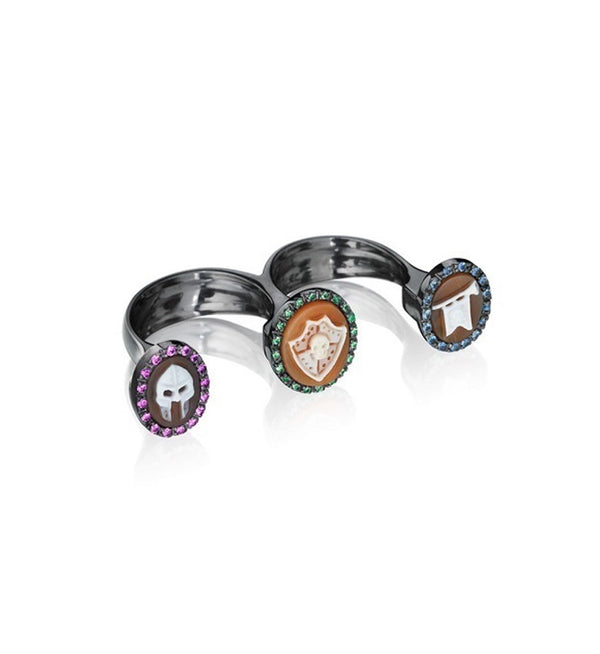 """MEDIOEVO"" DOUBLE FINGER RING"