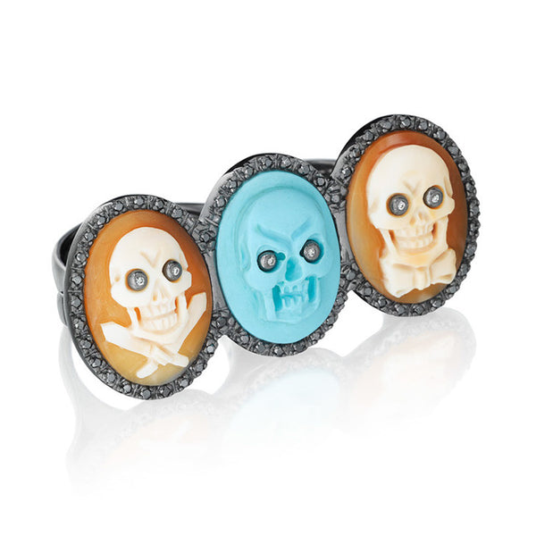 """Skeledeo"" Double Finger Ring"
