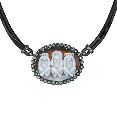 """WISE MONKEYS"" POISON NECKLACE"