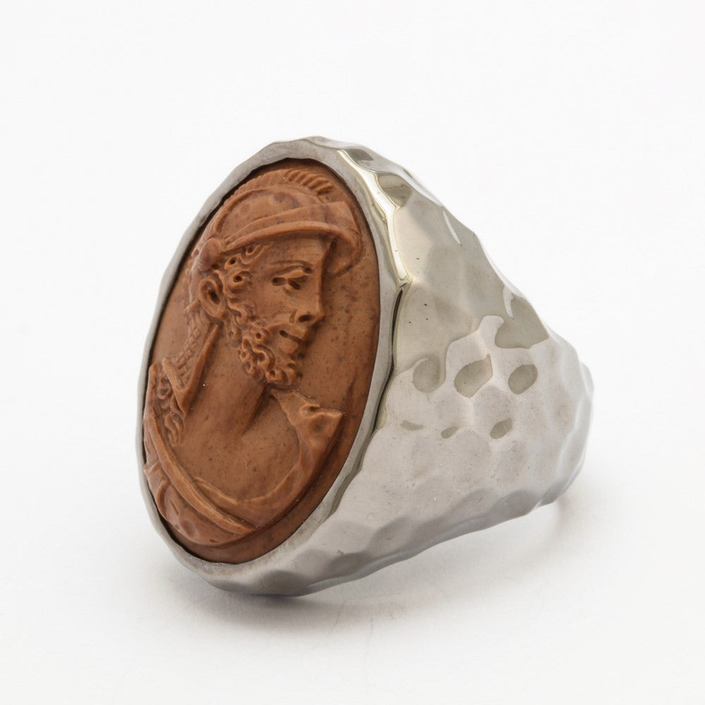 """Barbaro"" Lava Hammered Ring"