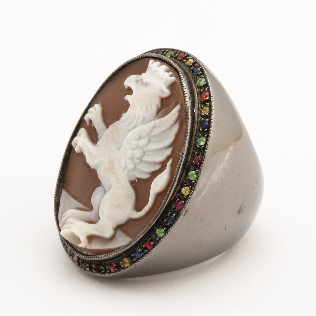 """Grifone"" Cameo Ring"