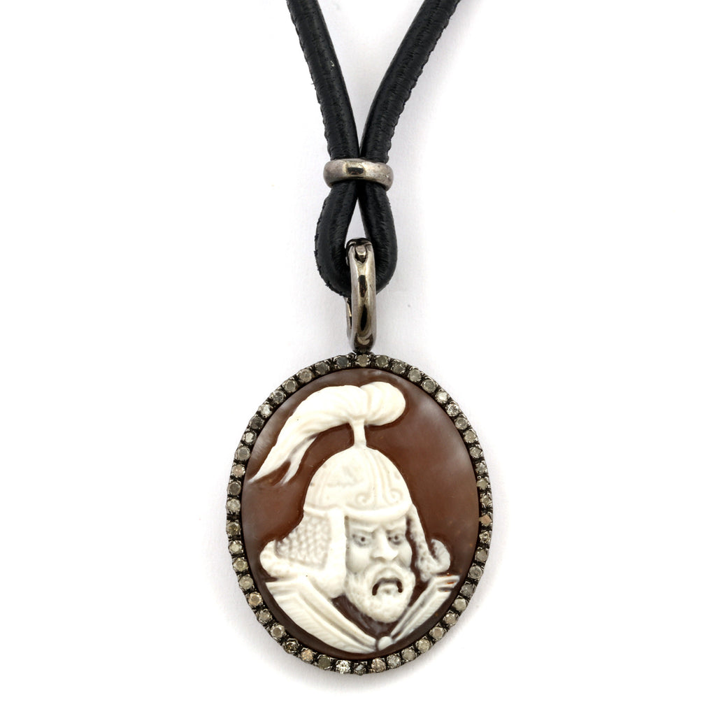 """Warrior"" Cameo Necklace"