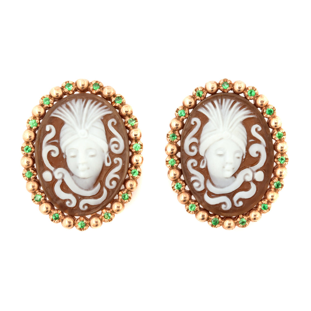"""Burlesque"" Cameo Earrings"