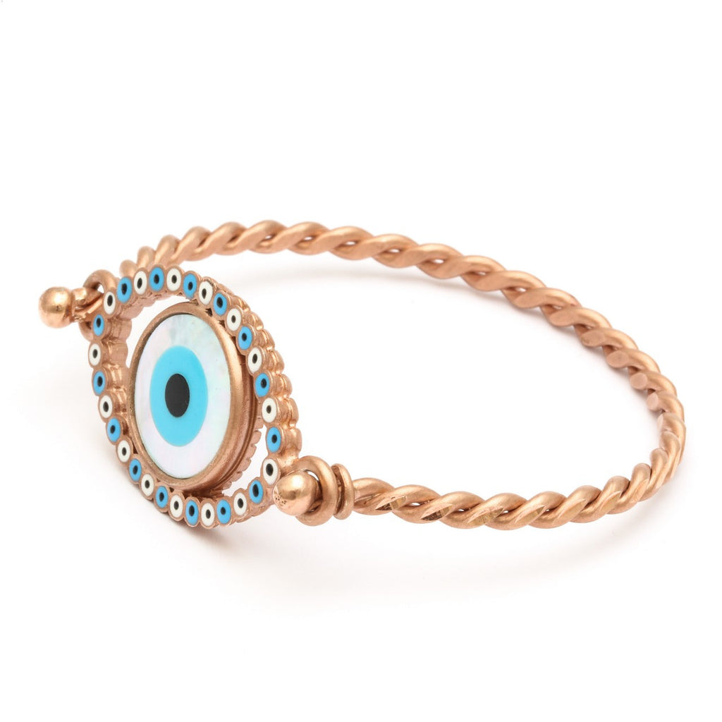 """Evil Eye"" rose rhodium"