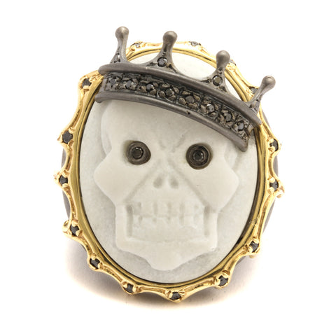 "MINI ""SKULL"" CAMEO RING"