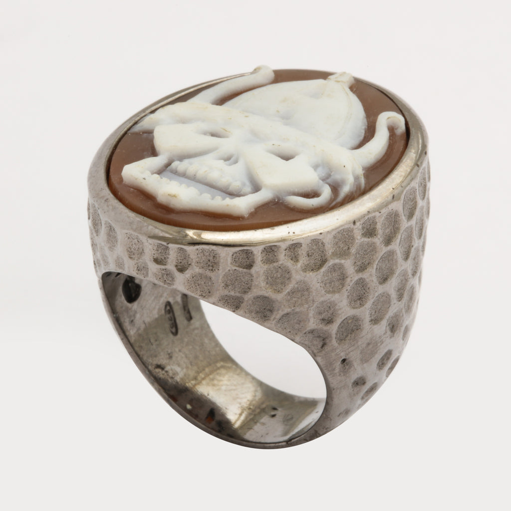 """Viking Skull"" Cameo Ring"