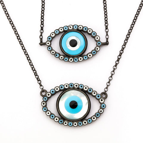 """Evil Eye"" Gold Rhodium"