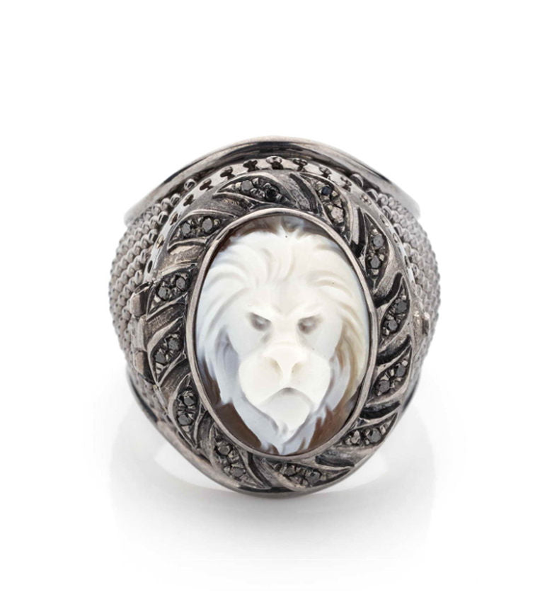 """Lion"" Poison ring"
