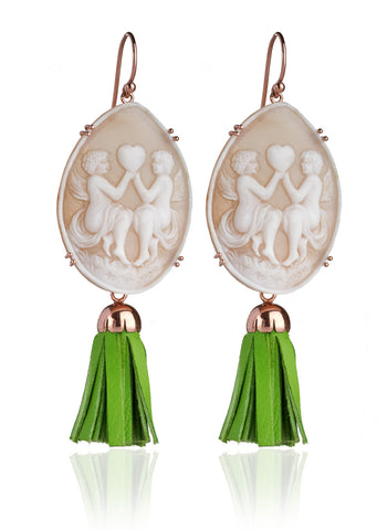 """Queen Bee"" Cameo Earrings"