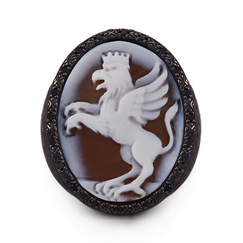 "Mini ""Dragon"" Cameo Ring"