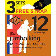 ROTOSOUND RJK1231 PB VALUE PACK 12'S