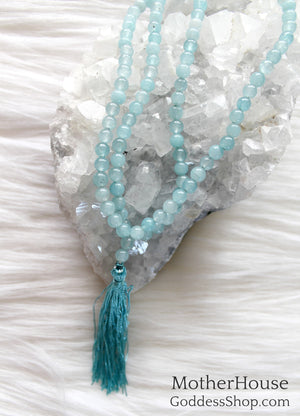 Aquamarine Mala 6mm