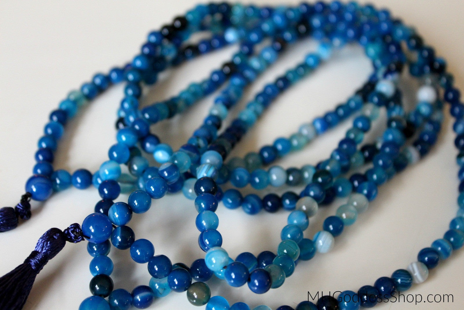 Blueberry Agate 6mm Mala