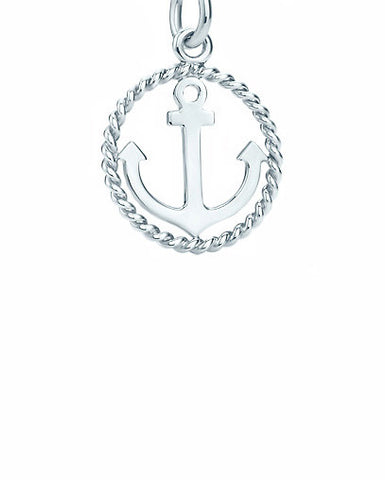 Nautical Anchor Charm in Sterling Silver - Silver Trendz  - 1