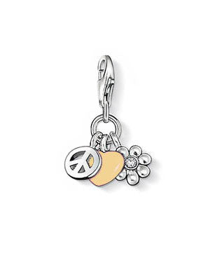 Peace, Love and Luck Charm in Sterling Silver - Silver Trendz