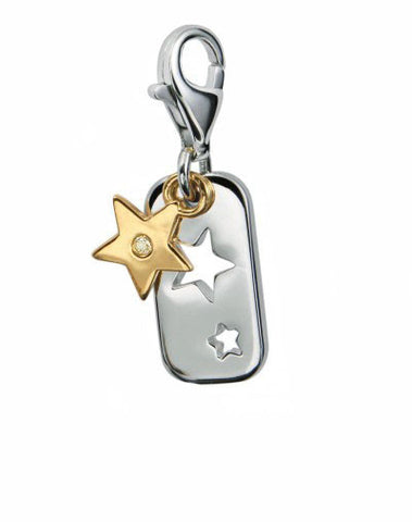 Star Friendship Charm in Sterling Silver - Silver Trendz