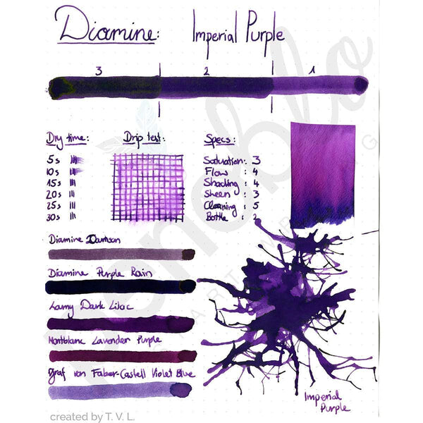 Diamine, Tintenglas, 80 ml, Imperial Purple-2