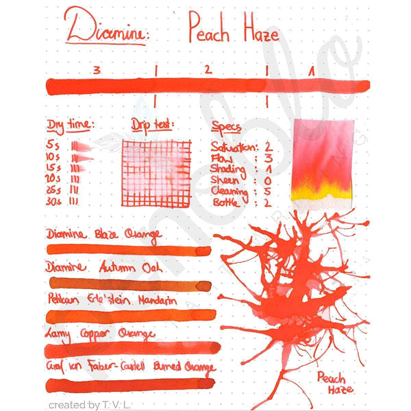 Diamine, Tintenglas, 80 ml, Peach Haze-2