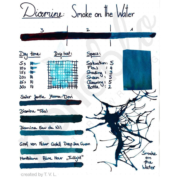 Diamine, Tintenglas, 80 ml, Smoke on the Water-2
