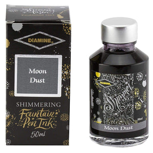 Grau11558 Diamine, Tintenglas, Shimmering 50 ml, Moon Dust