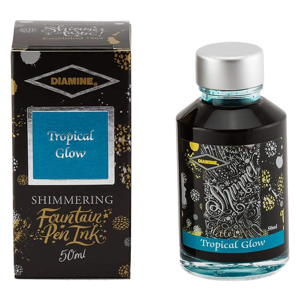Diamine, Tintenglas, Shimmering 50 ml, Tropical Glow-1