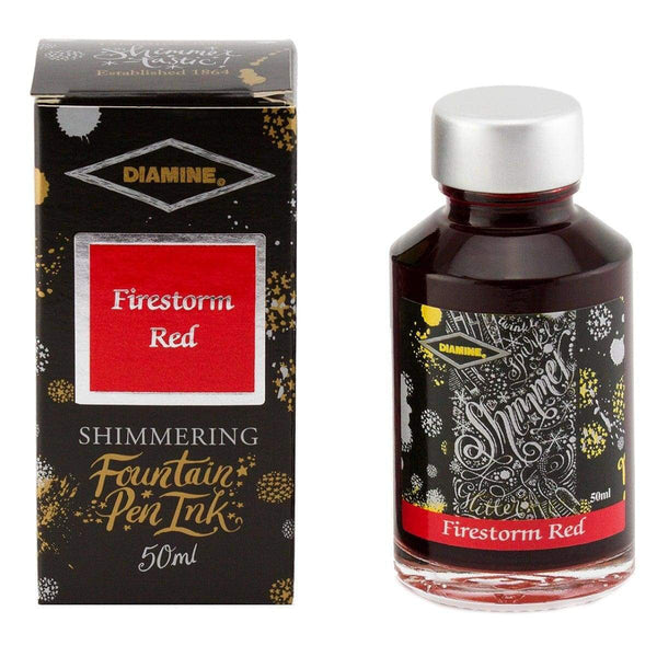 Diamine, Tintenglas, Shimmering 50 ml, Firestorm Red-1