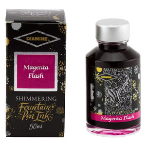 Pink11556 Diamine, Tintenglas, Shimmering 50 ml, Magenta Flash