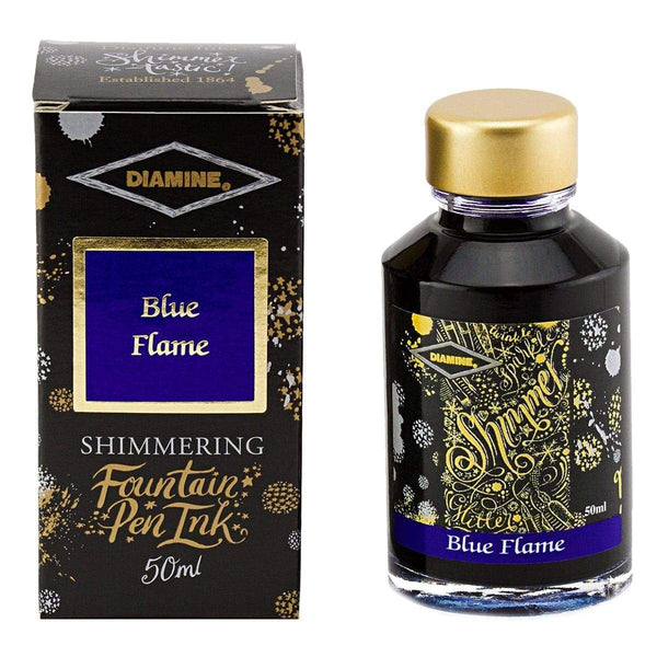 Diamine, Tintenglas, Shimmering 50 ml, Blue Flame-1