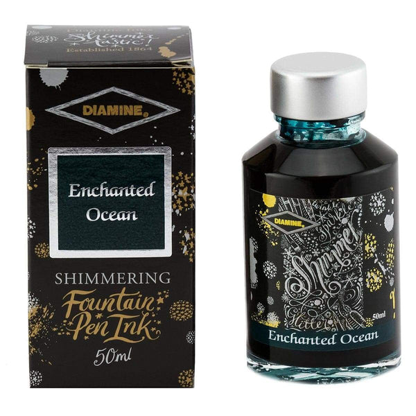 Diamine, Tintenglas, Shimmering 50 ml, Enchanted Ocean-1