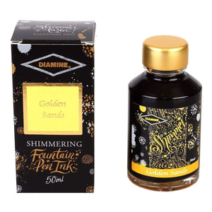 Gelb11552 Diamine, Tintenglas, Shimmering 50 ml, Golden Sands