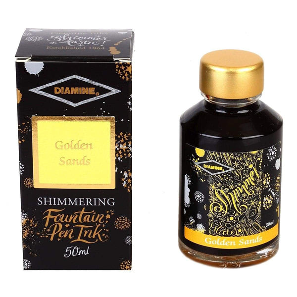 Diamine, Tintenglas, Shimmering 50 ml, Golden Sands-1