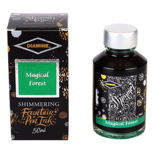Grün11557 Diamine, Tintenglas, Shimmering 50 ml, Magical Forest