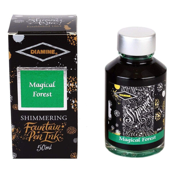 Diamine, Tintenglas, Shimmering 50 ml, Magical Forest-1