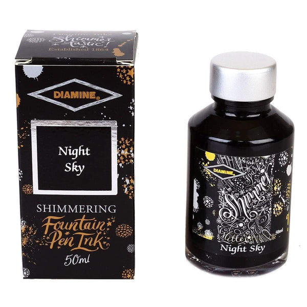 Diamine, Tintenglas, Shimmering 50 ml, Night Sky-1