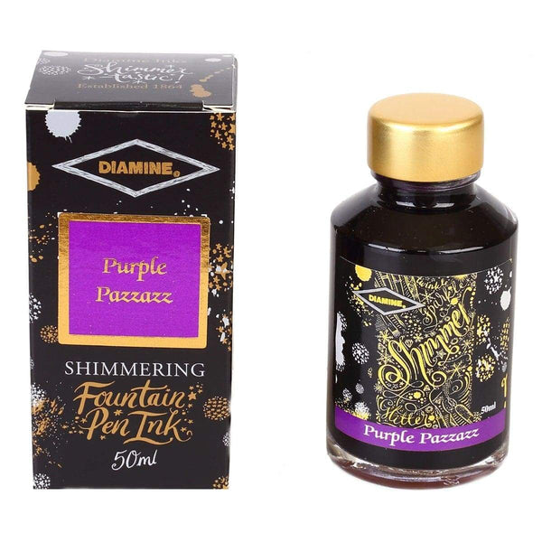 Diamine, Tintenglas, Shimmering 50 ml, Purple Pazzazz-1
