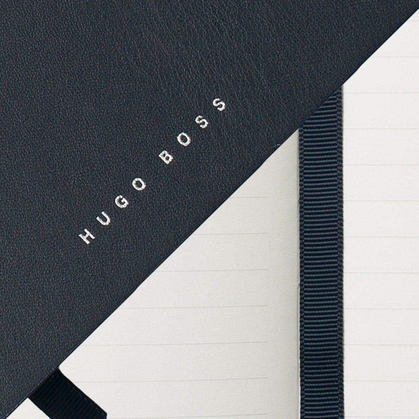 HUGO BOSS, Notizbuch Stripe, Blau-2