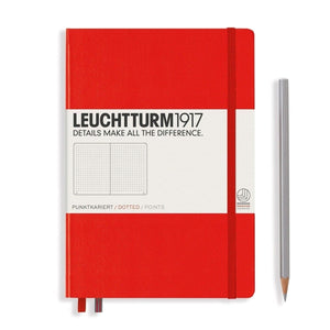 rot15700 Leuchtturm 1917, Notizbuch, Hardcover, A5, Dotted, Rot