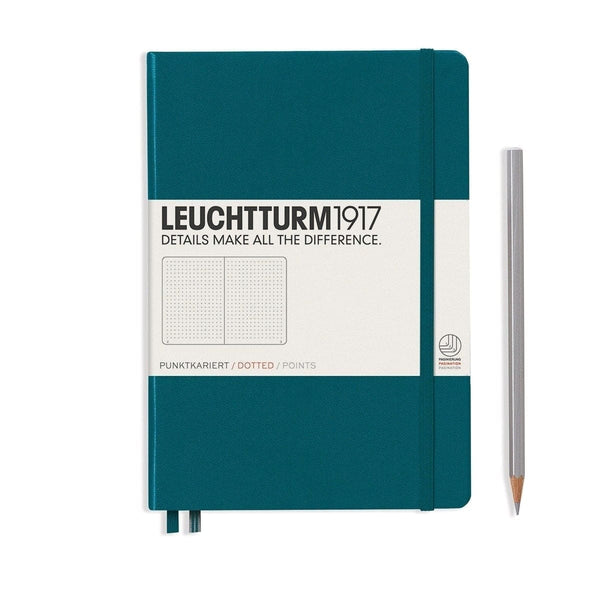 Leuchtturm 1917, Notizbuch, Hardcover, A5, Dotted, Pacific Green-1