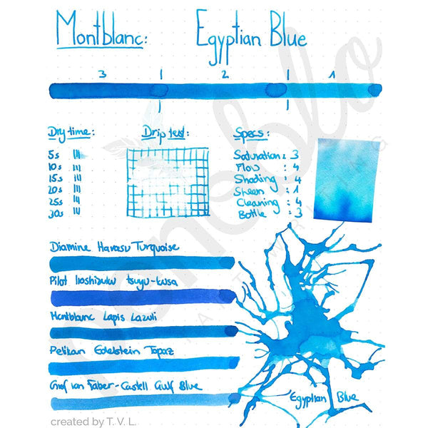Montblanc, Tintenglas 30 ml, Egyptian Blue, Blau-2