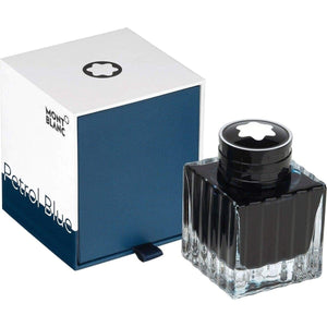 aquamarine9238 Montblanc, Tintenglas 50 ml, Colour of the Year, Petrol Blue, Petrol Blue